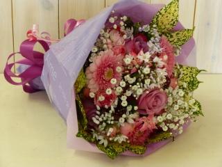 ラベンダーピンクの花束
