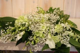エンジェル ホワイト ワンサイド 花束