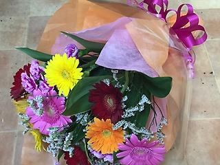ガーベラの花束mix color