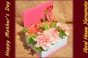 本型ボックスにピンクのカーネーションを詰めました♪