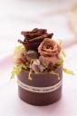 バラの香りのするワックスベースのプリザ・ブラウン
