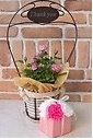 Thank you ♪ピンクのミニバラとピンクソープフラワー