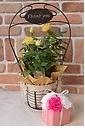 Thank you♪黄色のミニバラとピンクソープフラワー
