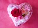 【母の日】ピンクのハートプリザ【きらきら】