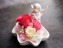 ○●東花園●○天使とシェルのプリザ【ピンク】