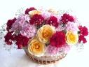 ○●東花園●○バラとカーネーションのボートアレンジ