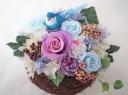 ○●東花園●○幸せの小鳥♪巣ごもりプリザ【ブルー】