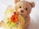 ○●東花園●○大きなベアのローズブーケ♪オレンジ