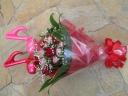 かわいい音符のバルーン入りバラの花束