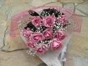 ピンクバラの素敵な花束