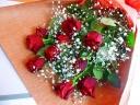 お洒落!やっぱり赤バラの花束