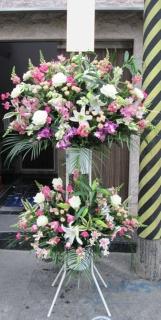 【スタンダード2段スタンド】ピンク&ホワイトカラー