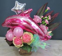 ども!幸せを運ぶピンクのイルカです♪