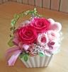 鮮やかピンクのバラとピンクのハート♪