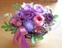 パープル系のバラで落ち着いたイメージに♪
