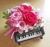 ピアノ♪♪鮮やかピンクのバラで