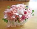 ジャスミンと優しいピンク系のバラで上品に♪