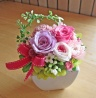ピンク~ライトパープルのお花で優しく・・・
