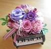 ピアノ♪♪パープル系のバラで落ちついたイメージに