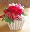 人気のピンク・レッド系のお花とピンクのハート♪