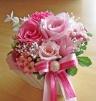 ピンク系のお花で可愛らしく♪