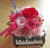 ピアノ♪♪華やかピンク・レッド系のお花で