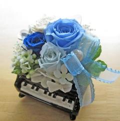 ピアノ♪♪爽やかブルー系プリザ