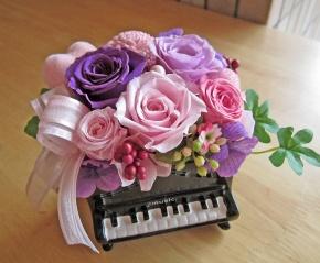 ピアノ♪♪ピンク~パープルの優しいプリザ