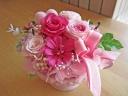 ピンク・ピンクの可愛いプリザアレンジ♪