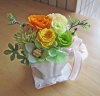イエローオレンジ系のお花でフレッシュに!