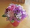 パープル系のお花で落ちついたイメージに♪