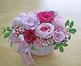ピンクのお花で可愛く♪