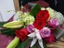 ばらがステキな花束