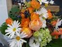 春のイエローオレンジ系花束