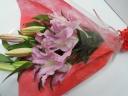 オリエンタルリリーの花束