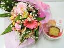 あすかおまかせ母の日花束・洋菓子セット