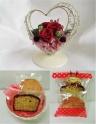 プリザ*エレガンスハート(赤)&洋菓子セット