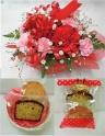 シンプルなアレンジ&洋菓子セット