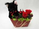 プリザ*黒ネコちゃん