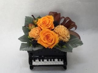 プリザ*アップライトピアノ・オレンジフルーツ