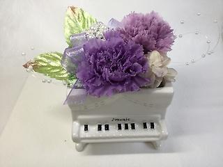 プリザ★アップライトピアノ・紫
