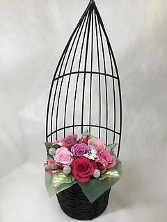プリザ★和籠・蝶