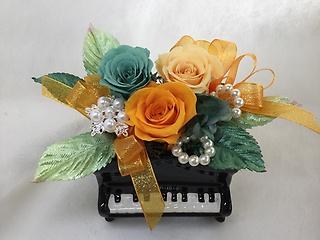 プリザ★アップライトピアノ・オレンジ