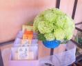 フリル咲きグリーン アレンジメント&カステラセット