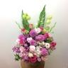 季節のアレンジメント~ピンクのお花を入れて~