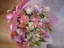 ピンクのチューリップのお花束