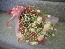 ピンクのカーネーションのお花束