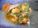 オレンジカーネーションのお花束