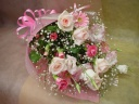 優しいピンクのキャンディー花束