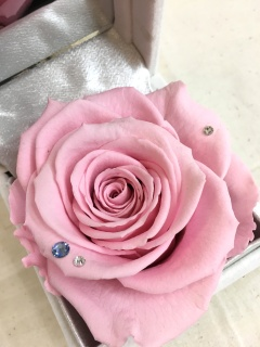 【3月誕生石&PINK薔薇】ジュエリーBOX